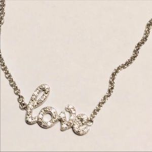 NEW STERLING SILVER LOVE NECKLACE